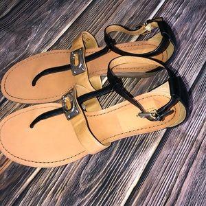 Coach Ines Veg Leather Sandal